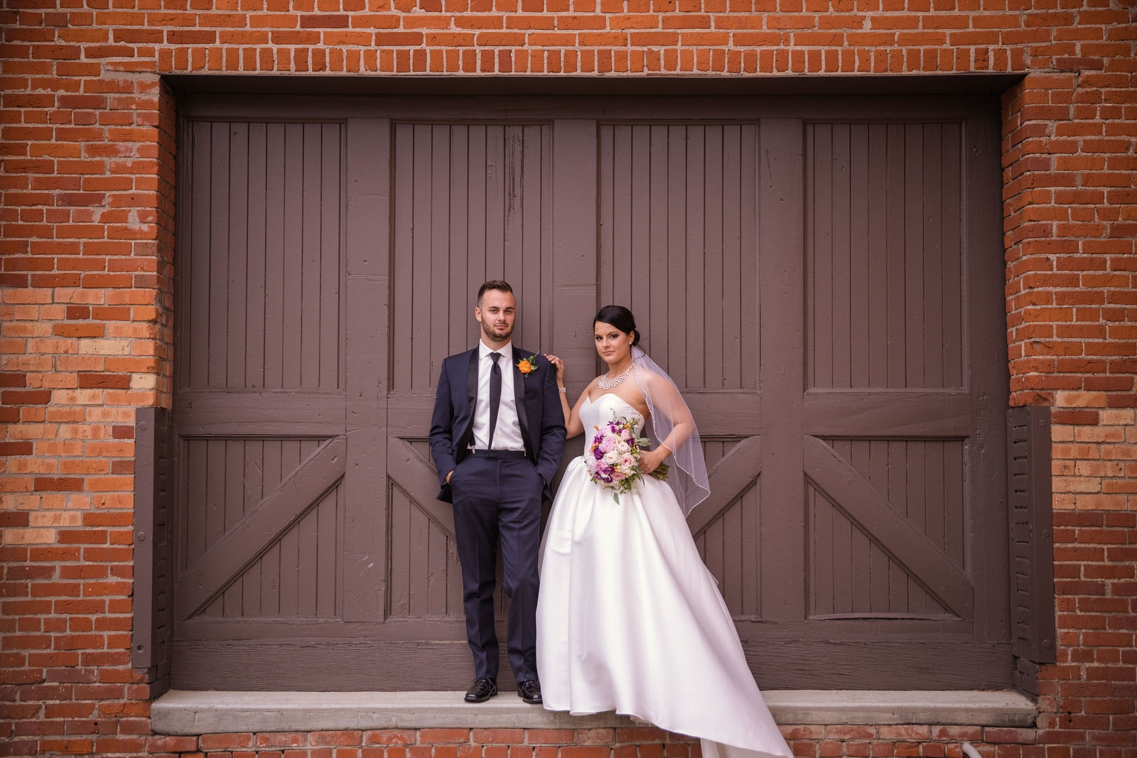 brick wedding photo