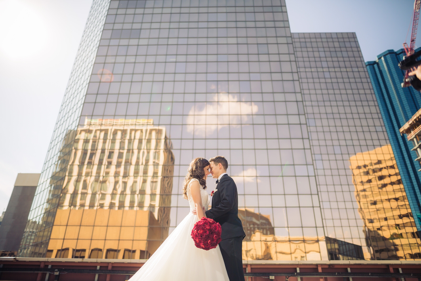 downtown yeg wedding photo