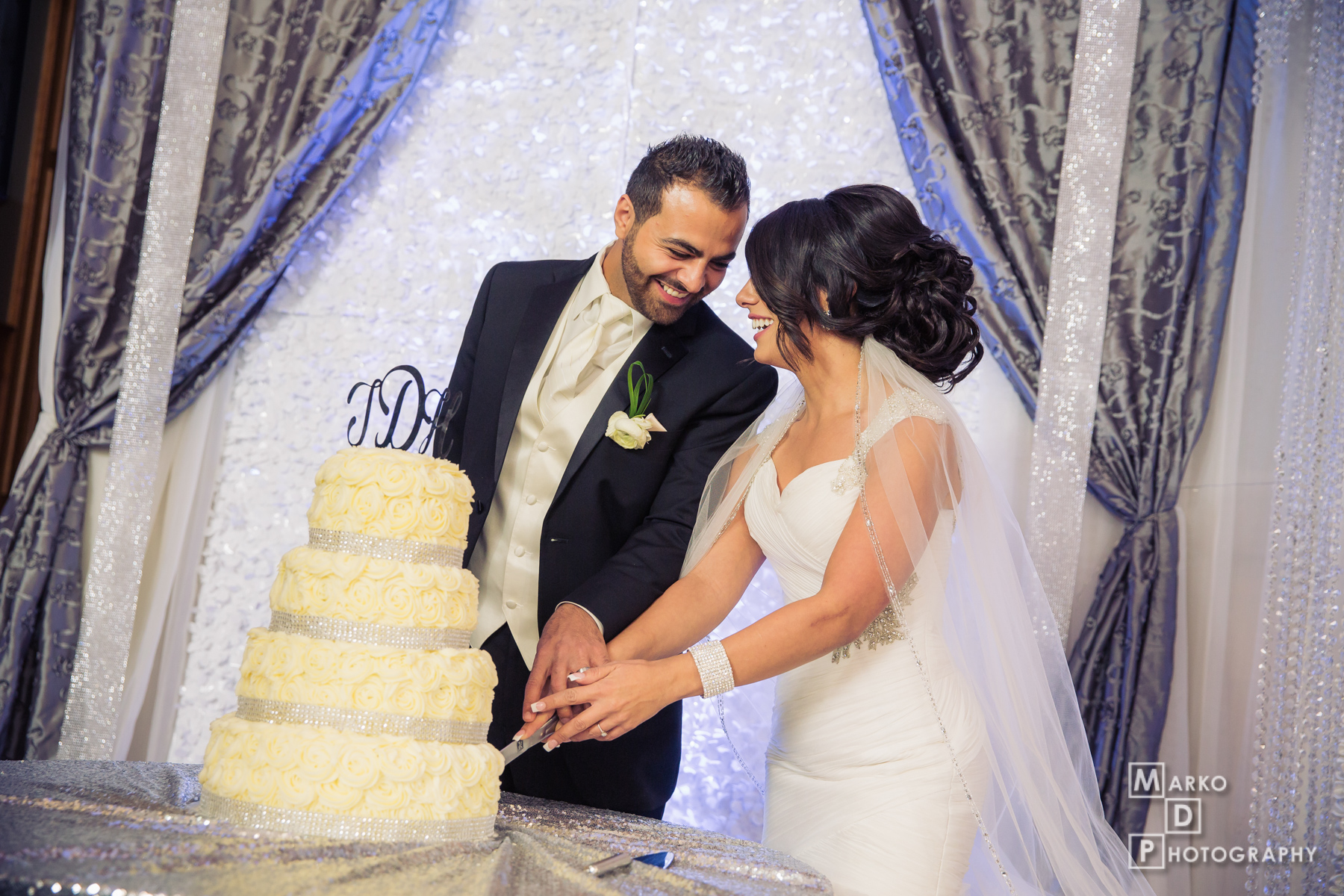 cake cutting wedding photographers