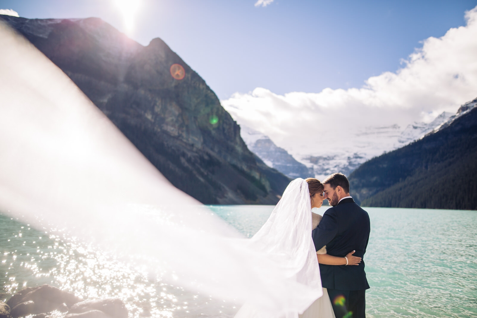 alberta rockies wedding photo