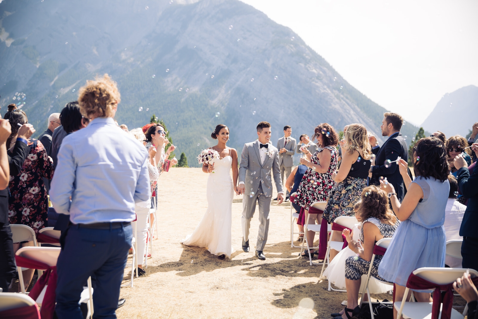 rocky mountain wedding photo