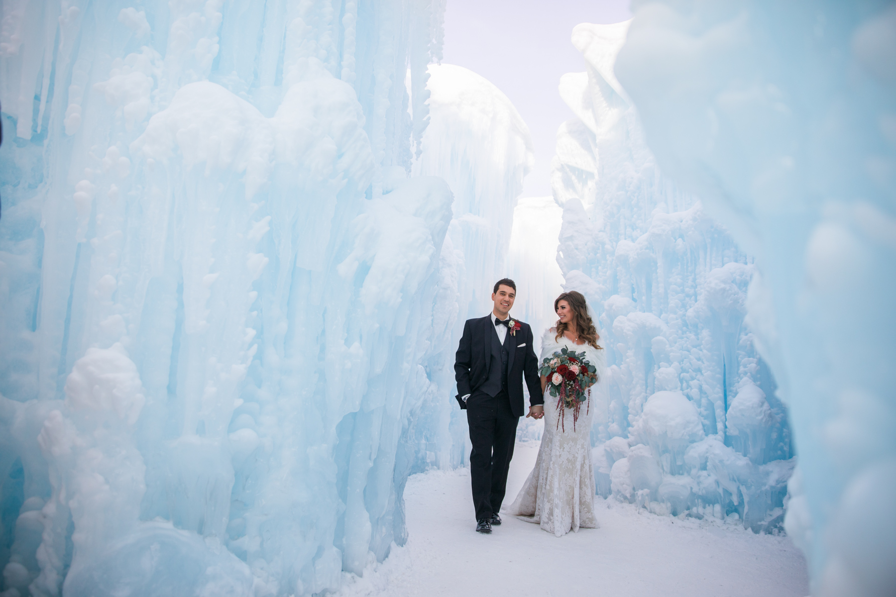 edmonton ice castles wedding