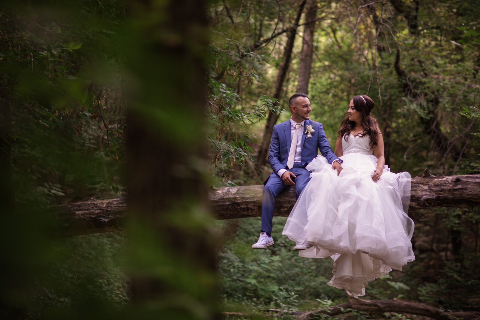 Forest edmonton wedding photo