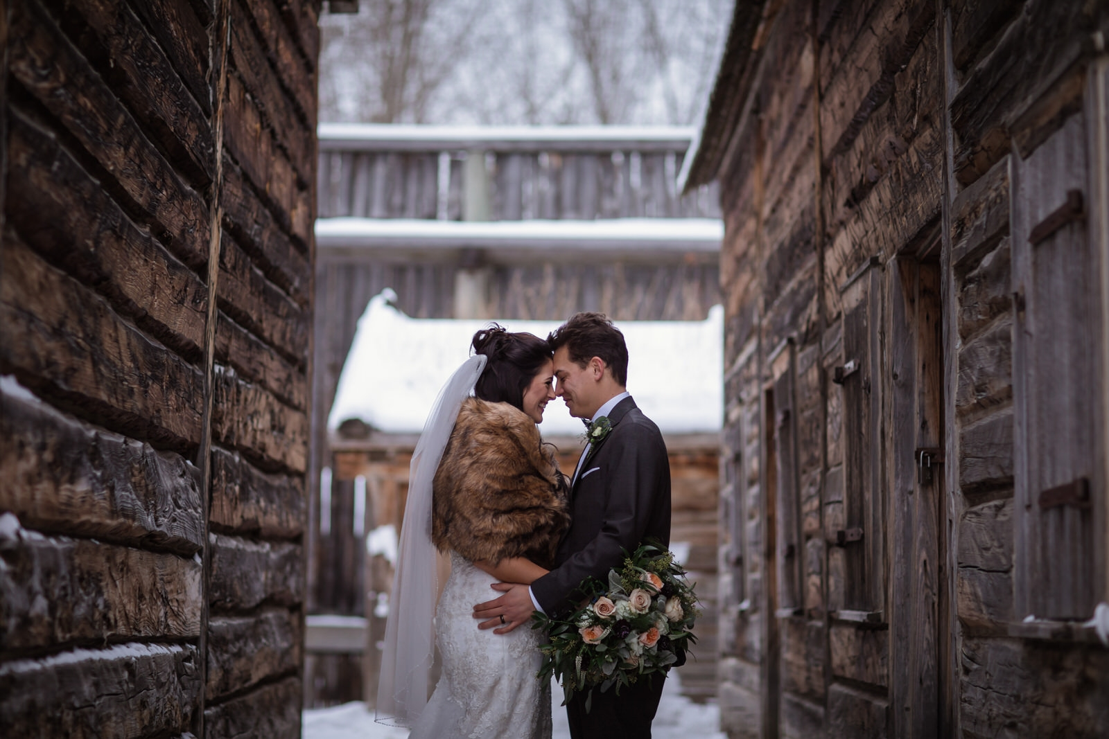 fort edmonton winter wedding