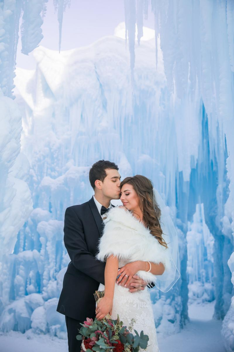 edmonton ice castle wedding