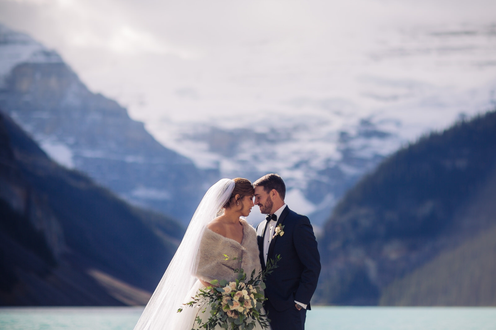 lake louise wedding photo